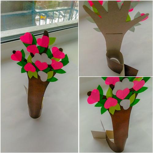 детская поделка дерево из бумаги 4
