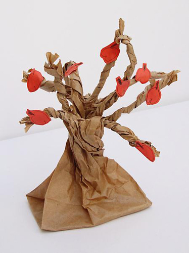 поделка дерево из цветной бумаги для детей 2