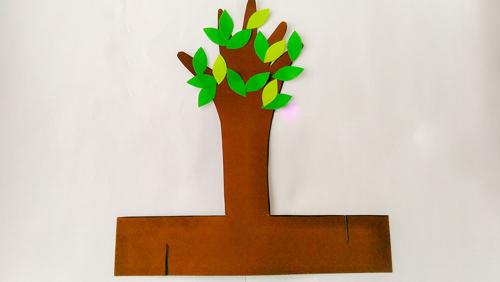 детская поделка дерево из бумаги 2