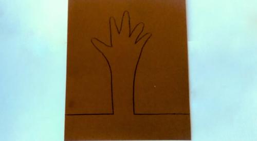 детская поделка дерево из бумаги