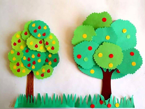поделка дерево из цветной бумаги для детей