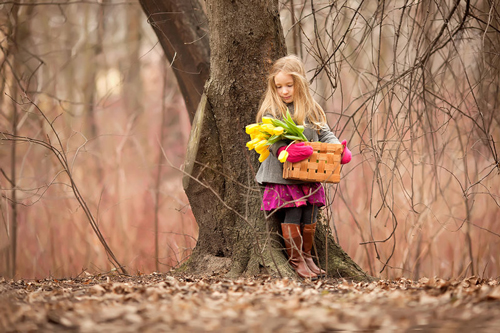 идеи весенних фотосессий с ребенком