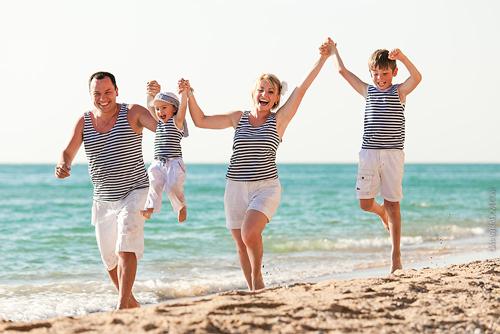 идеи для семейной фотосессии с детьми на море 2