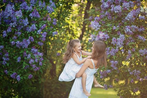 идеи для фотосессии всей семьей весной 2