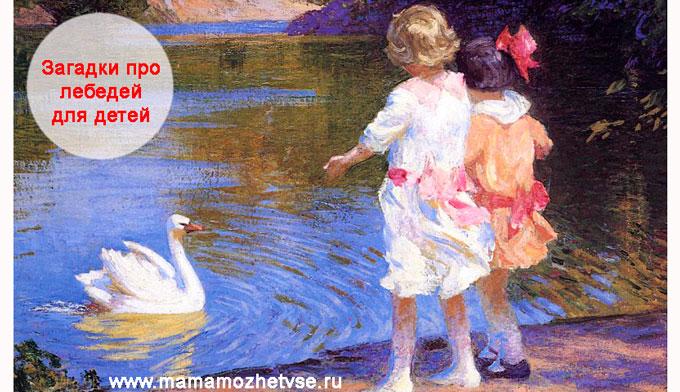 Загадки про лебедя для детей