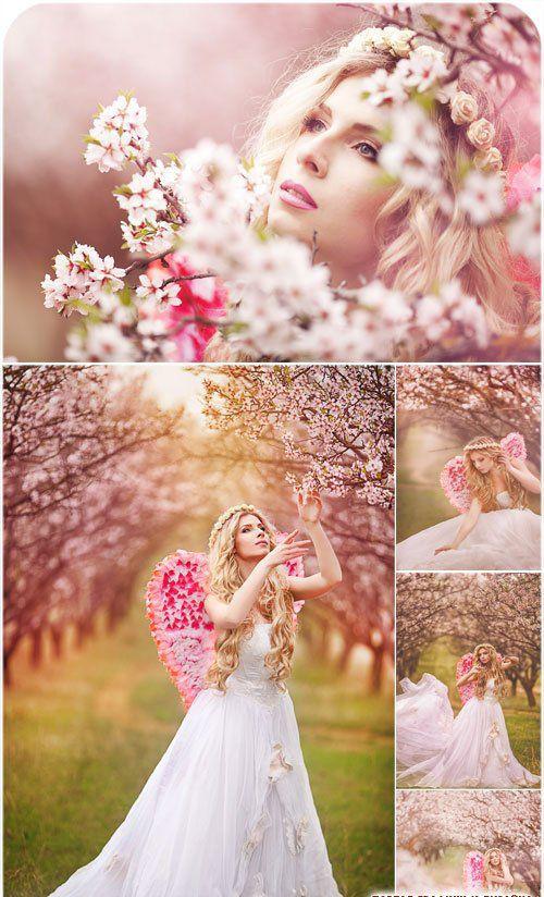 красивые весенние фото в цветущем саду