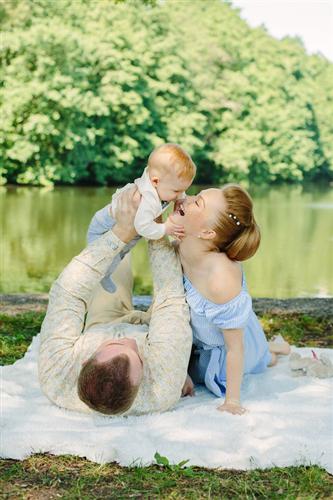 семейная фотосессия с малышом