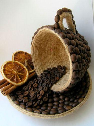 поделка из кофейных зерен для детей 7-10 лет