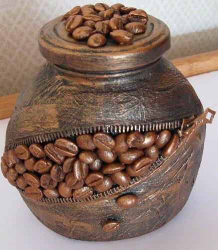 поделка из зерен кофе