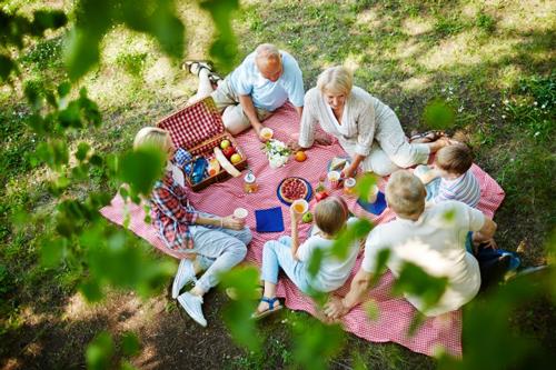 Идеи для фотосессии с детьми: семейный пикник