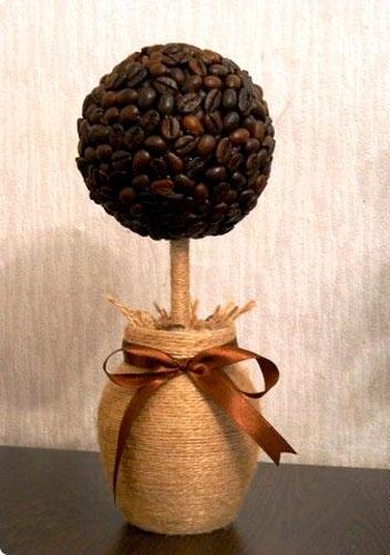 поделка из кофейных зерен для взрослых