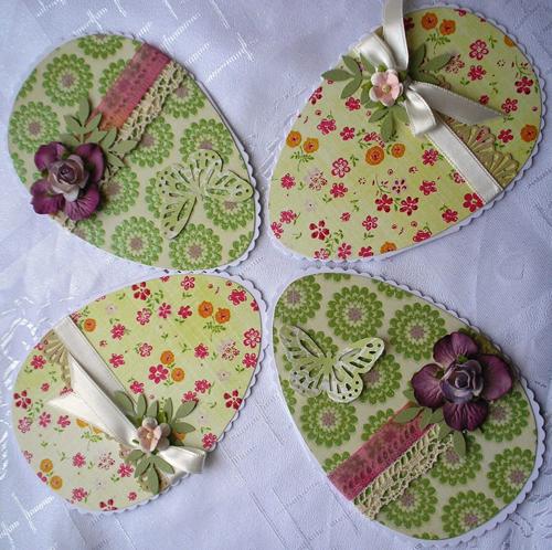 красивые открытки-яички на Пасху из бумаги для детей