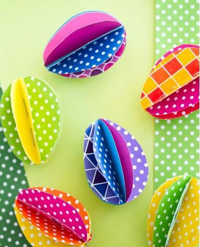 бумажные яйца