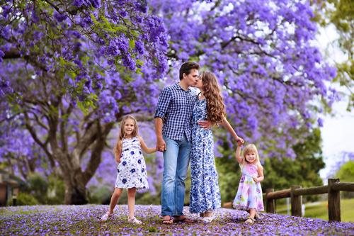 идеи для семейной фотосессии весной