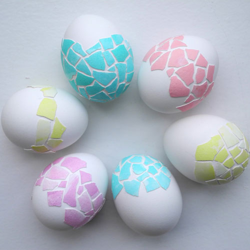 Красим яйца на Пасху: оригинальные идеи с помощью мозаики
