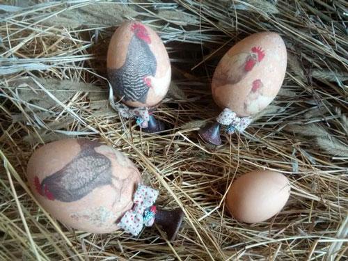 оригинальные идеи покраски яиц на Пасху: декупаж