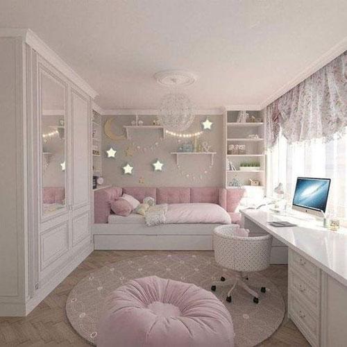 нежная классическая детская комната