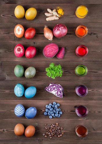 оригинально красим яйца на Пасху с помощью натуральных красителей