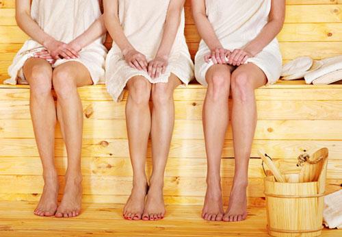 Как выгнать воду из организма для похудения: баня