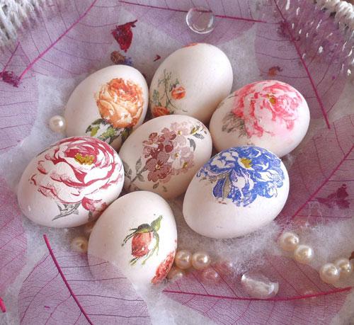 красим яйца на Пасху в технике декупаж 3