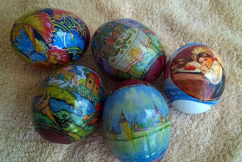 как красить яйца на Пасху: термонаклейки 2