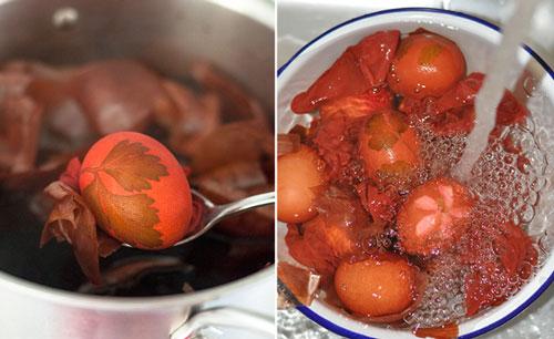 как красить яйца на Пасху луковой шелухой