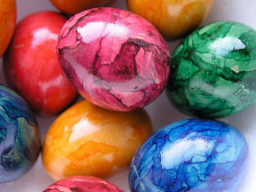 Красим яйца на Пасху: оригинальные идеи с помощью салфеток 7