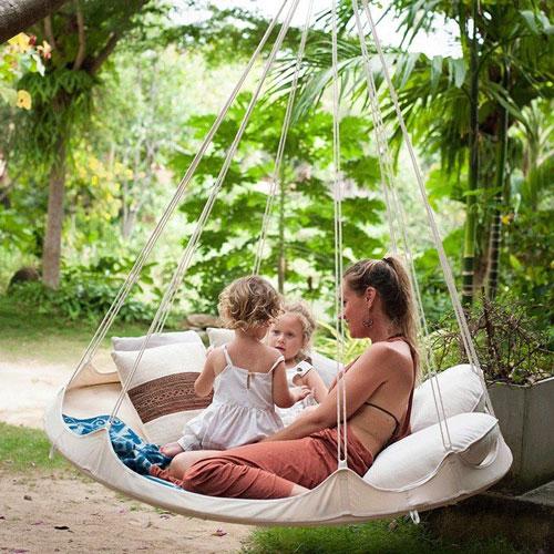Идеи семейной фотосессии в гамаке летом