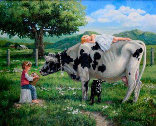 Детские загадки про корову с ответами