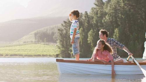 фотосессия летом в лодке