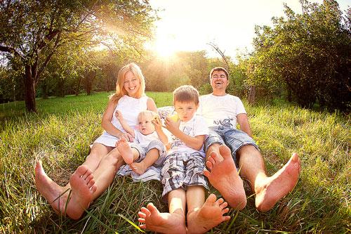 фотосессия с семьей на природе