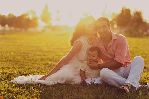 фотоссесия всей семьей на природе