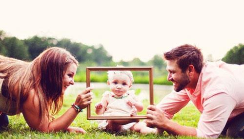 креативные идеи для семейного фото с малышом