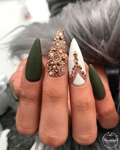 красивый матовый дизайн ногтей гель лаком