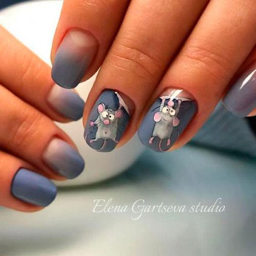 прикольный дизайн ногтей с матовым гель лаком