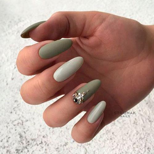 молодежный дизайн ногтей с матовым покрытием гель лаком 1