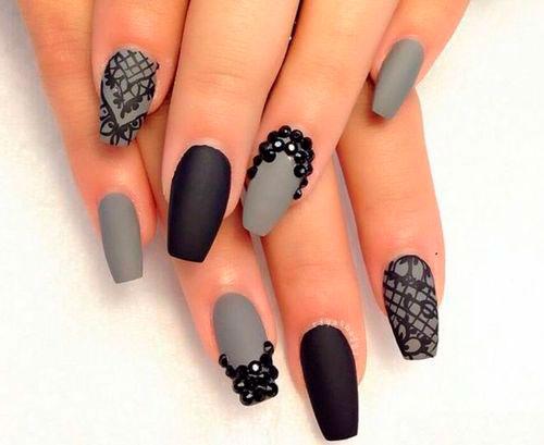 матовый дизайн ногтей гель лаком