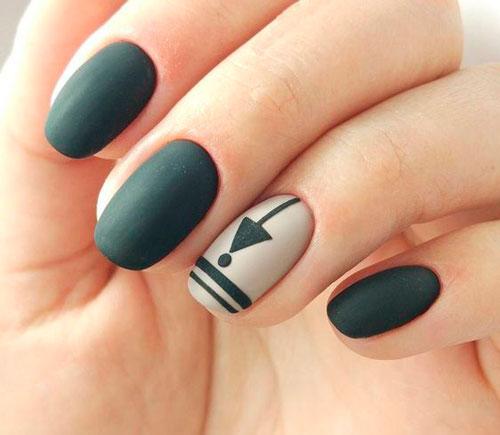 минималистичный дизайн ногтей с матовым покрытием