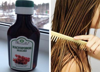 Маски против выпадения волос с касторовым маслом