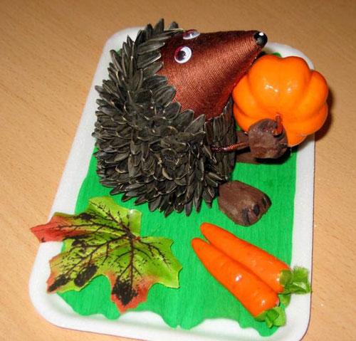 детские поделки из семян подсолнуха начальной школы