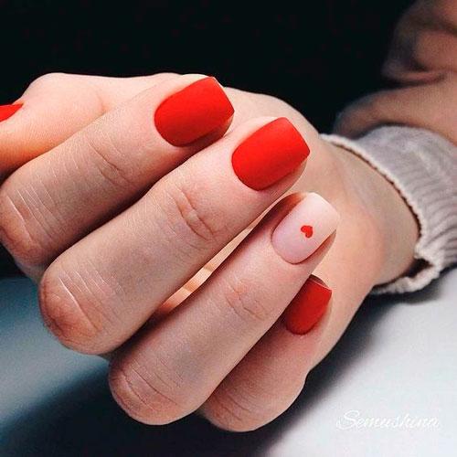 ногти с красным гель лаком