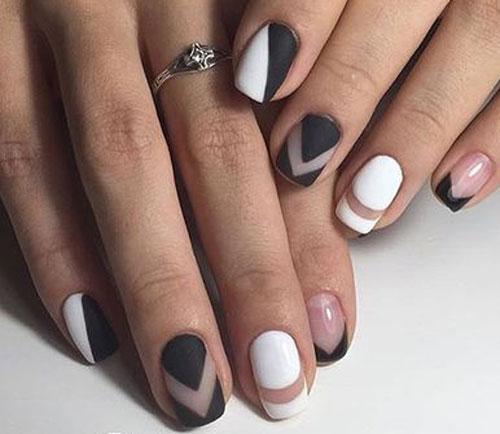матовый гель лак на коротких ногтях