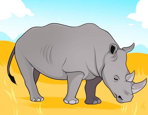 Загадки про носорога с ответами для детей 7-9 лет