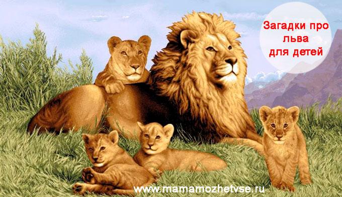 Загадки про льва для детей