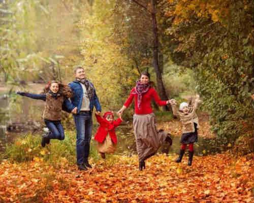 Осенняя фотосессия с детьми 1