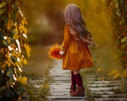 Золотая осень: детская фотосессия 6