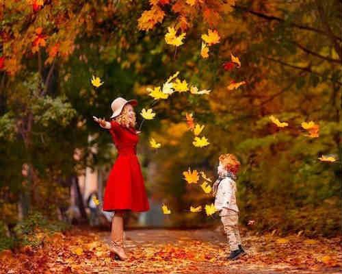 Краски осени: детская фотосессия 7