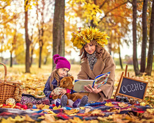 Золотая осень: детская фотосессия 1