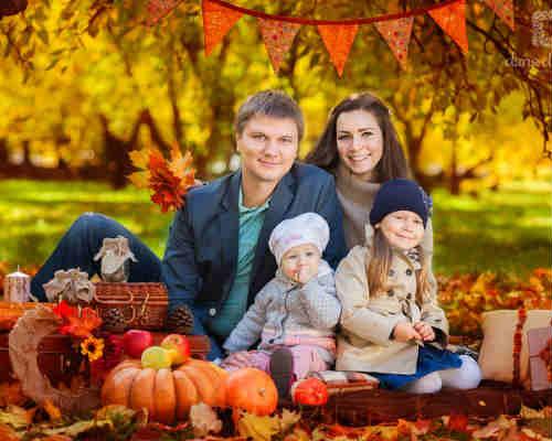 Осенняя фотосессия с детьми 10
