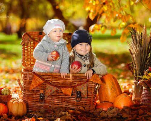 Золотая осень: детская фотосессия 2